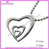 IJD2018 stainless steel heart alphabets pendant designs to engrave for friend