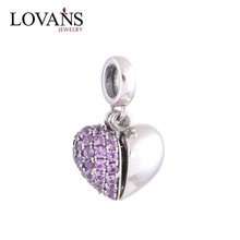 2015 Valentines Day Rose Heart 925 Silver Jewellery Locket Charms Bracelet Charms YZ350