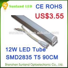 Long lifetime CE ROHS T5 12w SMD2835 tube8 red tube sex led