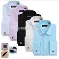 frenchy manga comprida camisa formal dos homens camisas de noivo smoking camisa com botão de punho de botão de punho