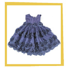 2014 solid girl party flower dress
