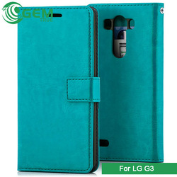 Card holder magnetic slim leather smart cover stand case mobile phone case for LG G3