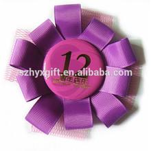 2014 new product handmade purple souvenir satin ribbon bow