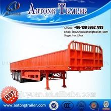 3 axles side wall open for bulk cargo transportation lock trailer