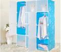 tragbare blau daisy blume design kleiderschrank für wohnzimmer möbel