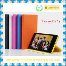 hot selling flip leather case for xiaomi redmi 1s, xiaomi redmi 1s flip case