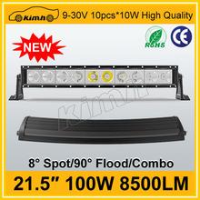 "Hotsale 21.5"" 8500LM 100W atv jeep led light bar"