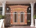 alto grau de porta villa açoinoxidável 304 porta dupla folha da porta