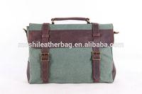 2014 High Quality Canvas Leather Briefcase Messenger Crossbody Bag Laptop Shoulder Bag 1870