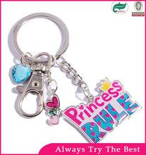 2014 New arrvial lovely custom promotional metal acrylic keychain