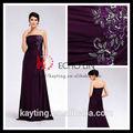 Yeni elbise moda mor balo elbise 2.013 parti seks elbise popüler düz bayan
