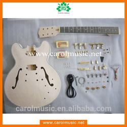 GK015 Musical Instruments Hollow DIY Electric Guitar Kits
