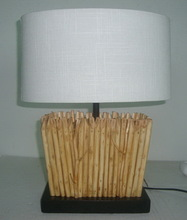 home desk lamp wicker base table lamp