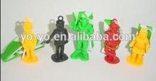 Fantastic plastic Parachuting soldiers