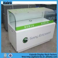 simple design mobile phone shop display showcase