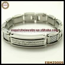 Lean Manufacture Decoration !! Excellent Custom Stainless Steel Bracelets Custom Logo Design