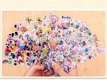 3D PVC puffy sticker cartoon characters