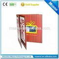 Popular personalizados de negocios de tarjeta, médico de diseño de folleto con 4.3 pulgadas de pantalla lcd, altavoz, de la batería, memoria 256mb