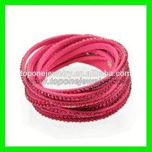 2014 Fashion top quality cool leather bracelet magnetic diy bracelet slake bracelet manufacturer and wholesale