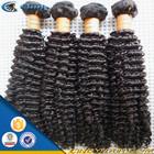 100% human hair virgin mongolian afro kinky curly hair weave 4a