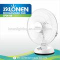 Refrigeração lonen 220v solar cobrar entrada 14 polegadas ac/dc diodo emissor de luz de emergência de mesa de plástico fã recarregável