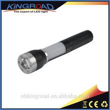 Magnet Head 300 Lumen Zoom LED Cree Q5 Flashlight Torch With Red Flashing Light