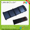 14W solar panels in foldable design mobile phone power bank charger
