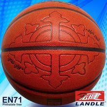 High quality 12 panles PU basketball chinese leather basketball