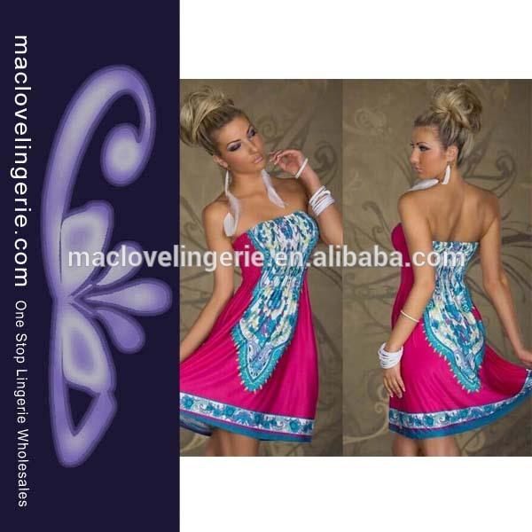 اللانهاية ml18074 الرجعية ثوب ملون الصيف سيدة
