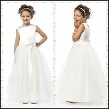 CT015 organza white princess patterns free cheap flower girl dress