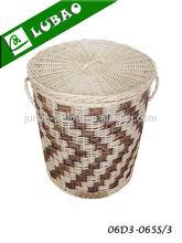 cheap large round lidded houseware wicker laundry hamper basket