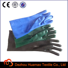 acid proof PVC gloves +cotton interlock coated +safety production