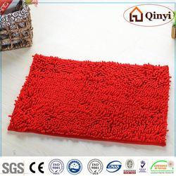 NEW 100%Poly Style anti-fatigue chenille massage mat Fabric Supplier / Chenille mat-QINYI
