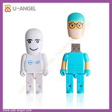 Funny shape usb flash disk,cute carton pvc usb flash drive,custom shape soft pvc robot shape usb flash memory
