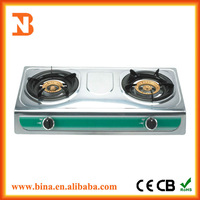 Wholesale Japanese stainless steel gas stoves 2 burner