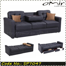 space saving furniture click clack sofa bed with drawers SP7047
