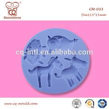 FDA and LFGB lovely animal shape silicone fondant decorative molds for sugar paste