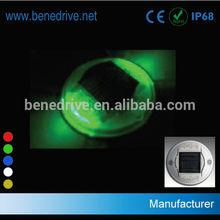 Plastic Solar Catseye Stud Double sides Green LEDs