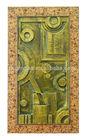 Metal looking wood 3d framed art
