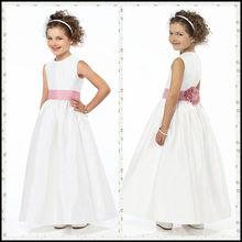 CT016 pink and white princess patterns free cheap flower girl dress