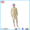 laboratory non woven pp yellow isolation medical disposable gown