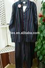 adult 100% cotton men print strip flannel pajamas/nightwear set