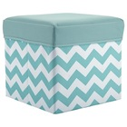 Printed collapsible Fabric storage ottoman