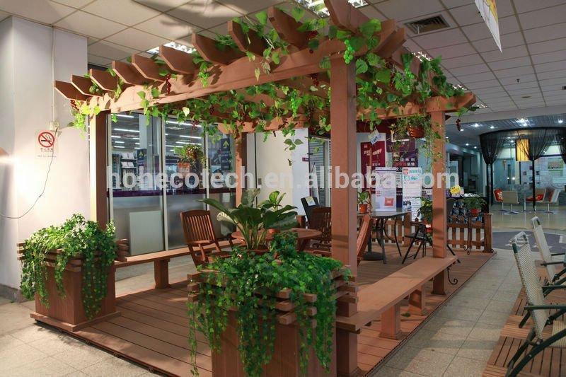 Nice Design Modern WPC Garden Pergola for Enjoyful Flower Looking