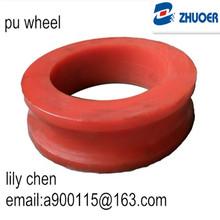 Urethane rubber wheel/customized polyurethane wheel