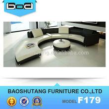 2014 new design modern round white colour sofa F179