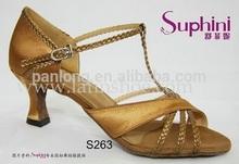 2014 Professiona Gold Latin Dance Shoes, Fashion Satin High Heel Salsa Shoes,Sexy Ladies Sandals