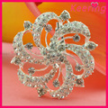 Bling bling un montón de diamantes de imitación broche de la flor ramo para las invitaciones de boda en wbr-1509 a granel