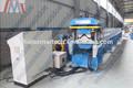 norma europeia rolo dá forma à máquina de perfuração de casal de metal molde do telhado ridge cap roll dá forma à máquina com alta velocidade