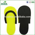 Estándar respetuoso del medio ambiente del hotel flip flop eva desechable deslizadores de las sandalias